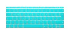 "HRH English Silicone EU Keyboard Cover Waterproof Protector Skin For Macbook Pro Air 12"" Inch (Aqua) - Intl"