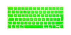 HRH Hot New English Silicone Keyboard Cover Protector Film Skin For Apple Magic Keyboard MLA22B / A EU Keyboard Layout (Green)