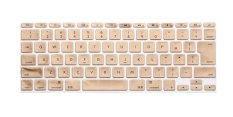 """HRH Silicone Keyboard Cover Skin For Apple Mac-book Air / Mac-book Pro 11"""" Inch (Japanese Version Of The English Gold)"""