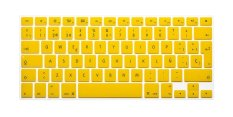 HRH Spanish Silicone EU Keyboard Cover Skin For Apple Macbook Pro Retina MAC 1.15 17 Air 13 (Yellow)