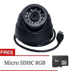 Hunter Kamera CCTV Portable Micro SD - Hitam + Gratis Micro SDHC 8GB