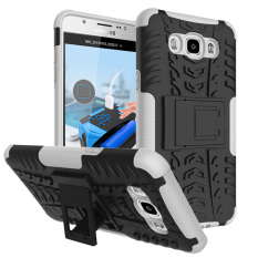 Hybrid Kickstand Dazzle Rugged Rubber Armor Hard PC+TPU With Stand Function Case For Samsung Galaxy J7(2016) J710 (White) - intl
