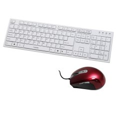 I-Rocks X-Slim Keyboard KR-6431W - Putih + Laser Mouse IR-7561 R