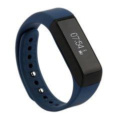 I5 PLUS Bluetooth Smart Band gelang jam tangan ponsel sobat untuk Xiaomi Huawei iPhone Samsung (Biru)