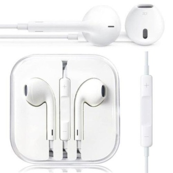 Icantiq Handsfree For Apple iPhone 5/5c/5s Headset / Earphone For All Phone Model Stereo - White/Putih