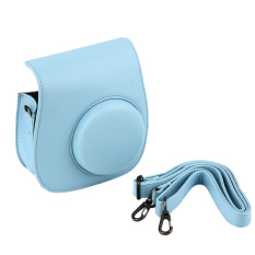 Instant Camera Leather Case Bag For Polaroid Photo Camera Leather Case Bag (Blue) - Intl