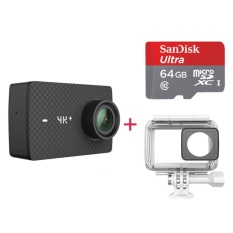 International Edition Xiaomi YI 4K+ Sports Camera Kit w/ 64GB TF Card - intl