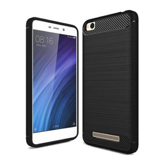 iPaky Carbon Fiber Shockproof Hybrid Back Case for Xiaomi Redmi 4A - Black