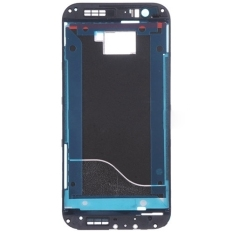 IPartsBuy Front Housing LCD Frame Bezel Plate Replacement For HTC One M8 (Black)