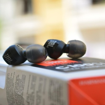 JBL Wired In-Ear Headphone C100SI Wired In-Ear Headphone Original with Mic by HARMAN - Hitam