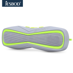 Jesbod J17 Sports Bluetooth Speaker IPX7 Waterproof Design Portable Wireless Loudspeaker Sound System 3D Stereo Music Surround (Light Green)
