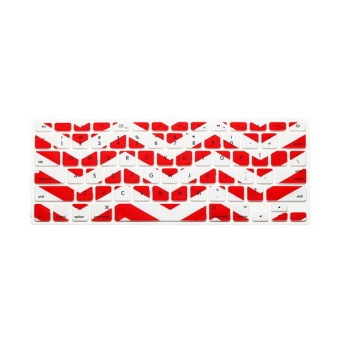 JH Silicone Keyboard Cover Skin 11 Inch (Wavy Red)