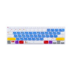 Apple Mac-book Air / Mac-book Pro JH Silicone Keyboard Cover Skin 17 Inch (Shortcuts PS Blue Chinese) (Intl)