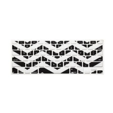 JH Silicone Keyboard Cover Skin 17 Inch (Wavy Black) - Intl