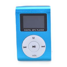 GE 32GB Mini USB FM Radio LCD Screen MP3 Player Clip (Blue) (Intl)