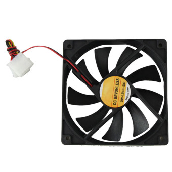 JoyliveCY PC CPU Cooling Fan 12.4 Pin Computer Case Cooler Connector For Computer Fan Heat Sink (Black)