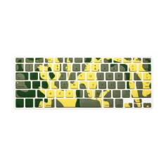Apple Mac-book Air / Mac-book Pro Keyboard Protector 17 Inch (New Camouflage Army Yellow) (Intl)