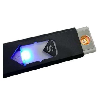 Keykhia Store Korek Api USB Electronic Cigarette Lighter - Hitam