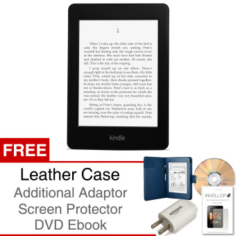 Kindle Paperwhite 4GB 300 ppi Ebook Reader Amazon Non Ads + Case + Screen Protector + Adaptor