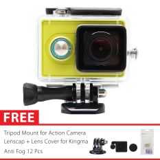 KingMa Original Waterproof Case for Xiaomi Yi Action Camera Bundle - Hitam + Gratis Paket Hadiah