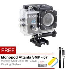 Kogan Action Camera 4K Ultra HD - 16MP - Hitam + Full Package