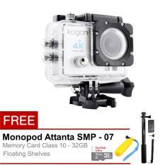 Kogan Action Camera 4K Ultra HD - 16MP - Putih + Full Package
