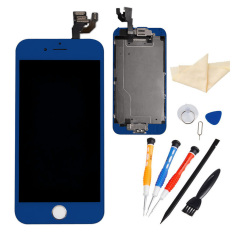 LCD Assembly Touch Screen And Digitizer With Spare Parts (FrontCamera, Home Button, Flex Cable, High-End Repair Kit) For IPhone 64.7 Inch (Dark Blue)