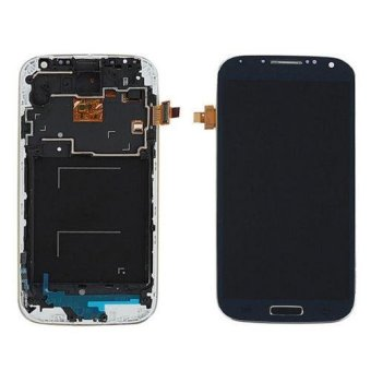 LCD Display Touch Screen Digitizer + Frame For Samsung Galaxy S4 i9505 Blue - intl