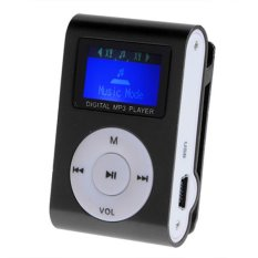 Sunweb Portable Digital Lcd Screen Metal Mini Clip Mp3 Player with Micro Tf / Sd Card Slot with Cable + Earphone#10 (Intl)