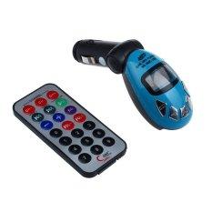 LCD Wireless FM Transmitter Car Kit MP3 Player Support USB SD MMC Slot (Blue)