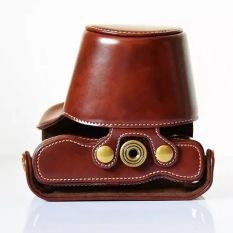 Leather Camera Case For Olympus EM10 II EM-10 II PU Leather Camera Retro Vintage Bag Coffee - Intl