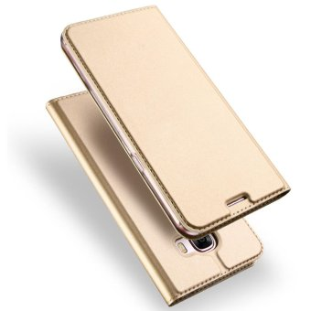 Leather Case Magnetic Flip Stand Cover for Samsung Galaxy A5 (2017)- Golden - intl