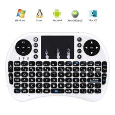 Leegoal 2.4 G Mini Bluetooth Portable Wireless Keyboard With Touchpad Mouse Multi-media Handheld Android Keyboard (White / Black)