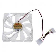 Light CPU Cooling Fan Computer PC Clear Case Quad 12CM Heatsink Green