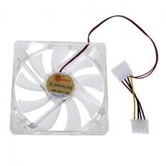 Light CPU Cooling Fan Computer PC Clear Case Quad 12CM Heatsink Red