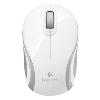 Logitech M187 Mouse Mini Nirkabel - Putih