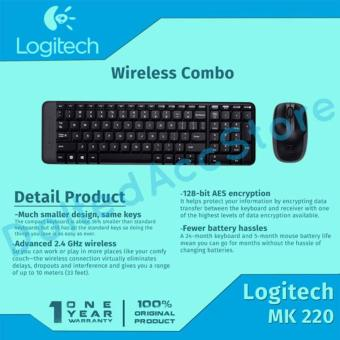 Logitech Mouse Keyboard Wireless Combo MK220 - Hitam