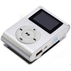 GoSport USB Mini Clip MP3 Player LCD Screen Support 32GB Micro SD TF Card FM Radio (White)
