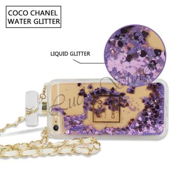Lucky Chanel Softcase Glitter Perfect Water Untuk IPhone 5G New Softcase Casing HP .