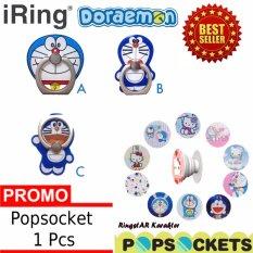 Lucky - iRing Model Doraemon 1 Pcs + Gratis iRing Popsocket Anti Drop Phone Grip Karakter