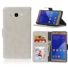 Luxury Fashion Leather Magnet Wallet Flip Case Cover with Built-in Credit Card / ID Card Slots for Samsung Galaxy J7 2016 / J710 - intl
