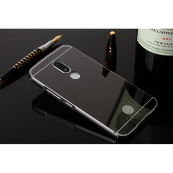 Luxury Metal Frame And Mirror PC Back Cover Case For Motorola Moto M - intl