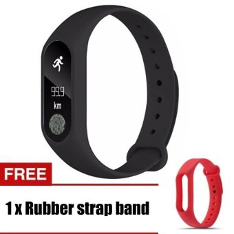 M2 Wristband Heart Rate Monitor Smart Watch Sports Reminder Smart Bracelet For IOS And Android - intl