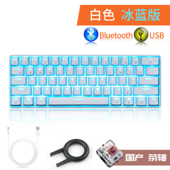 Mac rk61cherry kabel dan nirkabel Bluetooth Keyboard mekanik