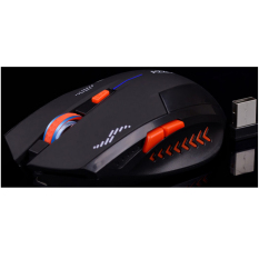 MAK Stylish 2.4GHz 2400dpi Chargeable USB Wireless Bluetooth LED Game Mouse