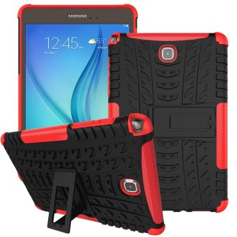 Meishengkai Case For Samsung Galaxy Tab A 8.0 Detachable 2 in 1 Hybrid Armor Design Shockproof Tough Rugged Dual-Layer Case Cover with Built-in Kickstand Red - intl