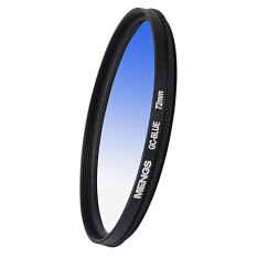 MENGS 72mm Graduated BLUE Lens Filter With Aluminum Frame For Canon Nikon Sony Fuji Pentax Olympus Etc Digital Camera