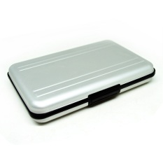 Metal SD And Micro SD Card Box 8 Slot - Silver