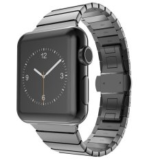 Metal Strap Stainless Steel Buckle For Apple Watch 38mm (Color: Grey)