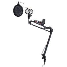 Mikrofon Booming Menggunting Lengan Suspensi Stan Untuk Studio Siaran Pemegang
